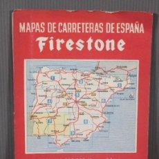 Mapas contemporáneos: MAPAS DE CARRETERAS DE ESPAÑA FIRESTONE - NÚMERO 7, PRIMERA EDICIÓN AÑOS 50. Lote 270153353