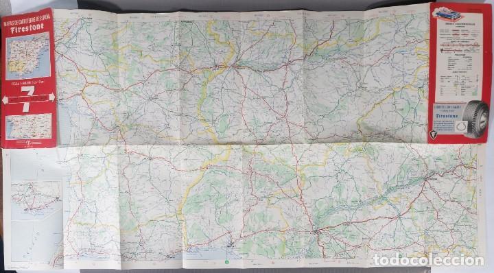 Mapas contemporáneos: Mapas de carreteras de España Firestone - número 7, primera edición años 50 - Foto 3 - 270153353