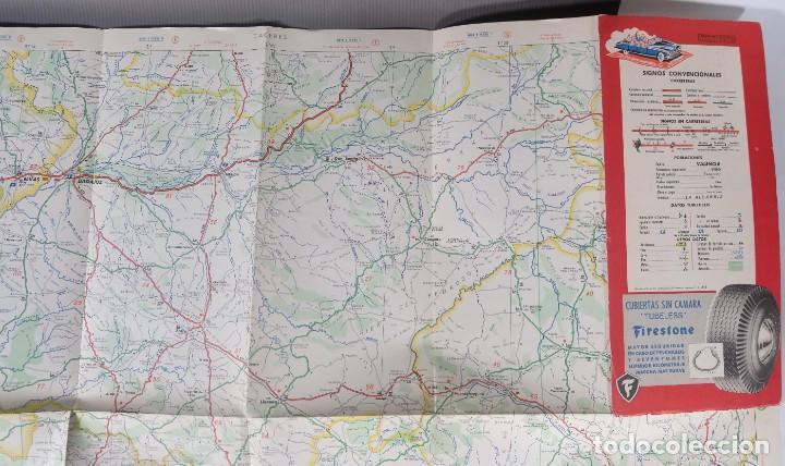 Mapas contemporáneos: Mapas de carreteras de España Firestone - número 7, primera edición años 50 - Foto 4 - 270153353