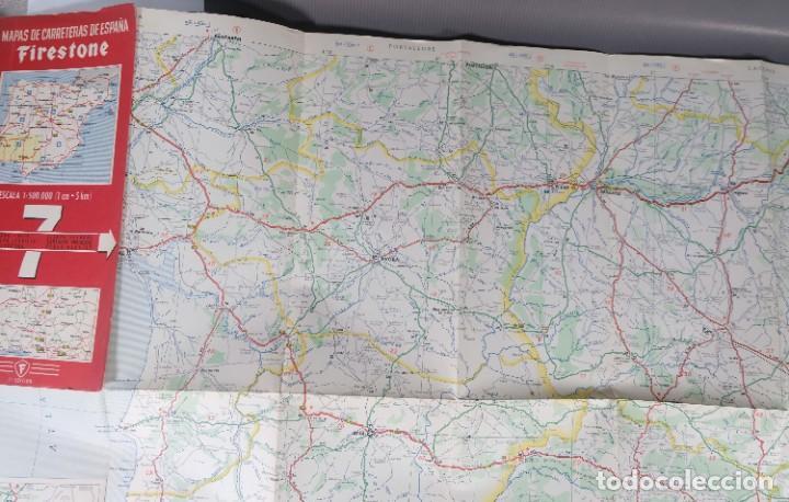 Mapas contemporáneos: Mapas de carreteras de España Firestone - número 7, primera edición años 50 - Foto 5 - 270153353