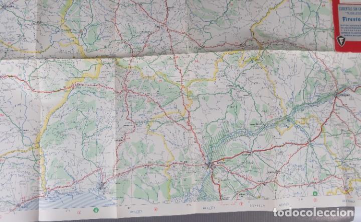 Mapas contemporáneos: Mapas de carreteras de España Firestone - número 7, primera edición años 50 - Foto 7 - 270153353