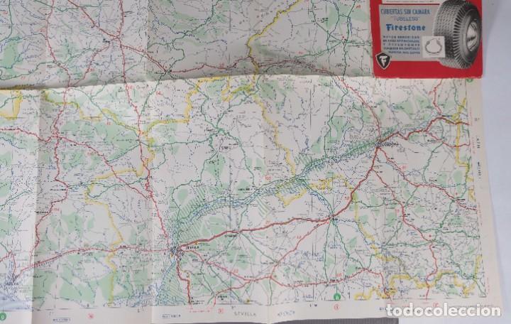 Mapas contemporáneos: Mapas de carreteras de España Firestone - número 7, primera edición años 50 - Foto 8 - 270153353