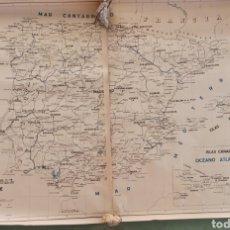 Mapas contemporáneos: MAPA POLÍTICO Y DE COMUNICACIONES DE ESPAÑA Y PORTUGAL. Lote 270355783