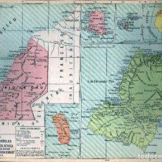 Mapas contemporâneos: GIROEXLIBRIS.- 1930. MAPA DE POSESIONES ESPAÑOLA EN ÁFRICA ANUARIO BAILLY BAILLIERE Y RIERA. Lote 274685433