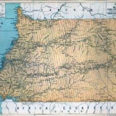 Mapas contemporâneos: GIROEXLIBRIS.- 1930. MAPA DE POSESIONES ESPAÑOLA EN ÁFRICA RIO MUNI ANUARIO BAILLY BAILLIERE Y RIERA. Lote 274685643