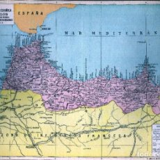 Mapas contemporâneos: GIROEXLIBRIS.-1930. MAPA DE POSESIONES ESPAÑOLA EN ÁFRICA MARRUECOS ANUARIO BAILLY BAILLIERE Y RIERA. Lote 274685993