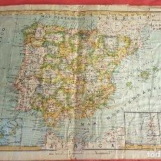Mapas contemporáneos: MAPA DE ESPAÑA DE PALUZIE (33 X 44´5) Y 8 PÁGINAS (TOTAL 16 MAPAS) DE ESPAÑA (25 X 32) SUCESORES DE. Lote 274783538