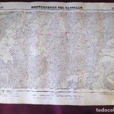 Mapas contemporáneos: 1951, MAPA DE MONTEALEGRE DEL CASTILLO, INSTITUTO GEOGRÁFICO Y CATASTRAL, UNOS 68 X 49 CMS.. Lote 275498858