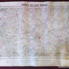 Mapas contemporáneos: 1950´S, MAPA DE PEÑAS DE SAN PEDRO, INSTITUTO GEOGRÁFICO Y CATASTRAL, UNOS 69 X 50 CMS.. Lote 275499443