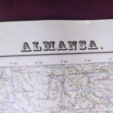 Cartes géographiques contemporaines: 1951, MAPA DE ALMANSA, INSTITUTO GEOGRÁFICO Y CATASTRAL, UNOS 69 X 50 CMS.. Lote 275501028