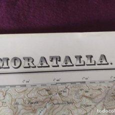 Cartes géographiques contemporaines: 1942, MAPA DE MORATALLA, DIRECCIÓN GENERAL DEL INSTITUTO GEOGRÁFICO, UNOS 69 X 50 CMS.. Lote 275506108