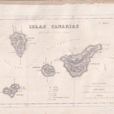 Mappe contemporanee: MAPA ISLAS CANARIAS. 1ª HOJA. 31 X 23 CM. PRIMERA MITAD DEL SIGLO XIX. Lote 275695773