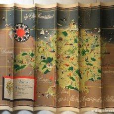 Mapas contemporáneos: MAPA VIZCAYA CAJA AHORROS BILBAO 1957,ILUSTRADO REVERSO , PEDERNALES ,SALA CUNA, CASA NIÑO BERMEO ... Lote 275726718
