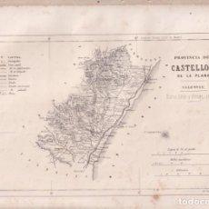 Cartes géographiques contemporaines: MAPA DE LA PROVINCIA DE CASTELLÓN. 31 X 234 CM. SEGUNDA MITAD DEL SIGLO XIX. Lote 275757213