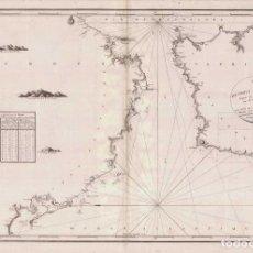 Mapas contemporáneos: MAPA ANTIGUO GIBRALTAR CÁDIZ ANDALUCÍA MARRUECOS 1805 AÑO XIII NAPOLEÓN - DÉPOT GÉNÉRAL MARINE. Lote 275805218