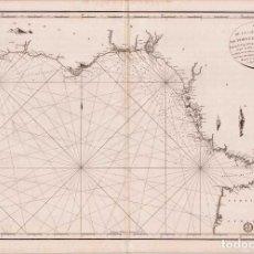 Mapas contemporáneos: MAPA ANTIGUO GIBRALTAR ANDALUCIA PORTUGAL MARRUECOS 1805 AÑO XIII NAPOLEÓN - DÉPOT GÉNÉRAL MARINE. Lote 275805233