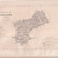 Mapas contemporâneos: MAPA DE LA PROVINCIA DE TARRAGONA. 31 X 23 CM. SEGUNDA MITAD DEL SIGLO XIX. Lote 275885498