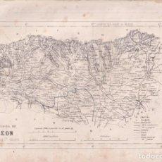 Cartes géographiques contemporaines: MAPA DE LA PROVINCIA DE LEÓN. 31 X 23 CM. SEGUNDA MITAD DEL SIGLO XIX. Lote 275902228