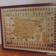 Mapas contemporâneos: CUADRO MAPA REGIONAL ESPAÑA ED. SARADIN (FOTO SALMER). Lote 276012993