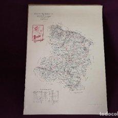 Cartes géographiques contemporaines: ANTIGUO MAPA PUBLICIDAD DE PAPEL DE FUMAR BAMBÚ, LOGROÑO Y SORIA, LITOGRAFÍA J. ISERN, MADRID, RARO. Lote 276440758