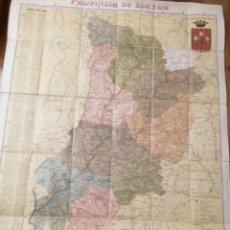 Mapas contemporáneos: PROVINCIA DE LERIDA. MAPA SOBRE TELA. POR BENET CHIAS Y CARBÓ. Lote 276913928