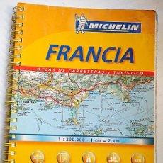 Mapas contemporáneos: ATLAS DE CARRETERAS Y TURÍSTICO DE FRANCIA. GUÍA MICHELÍN 2005. Lote 277034398