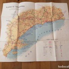 Mapas contemporáneos: PLAYAS DE LA PROVINCIA DE TARRAGONA. Lote 277043503