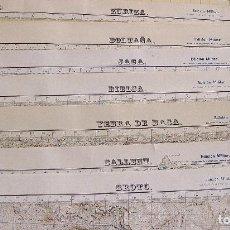 Mapas contemporáneos: 1956. LOTE 8 MAPAS MILITARES PIRINEOS – JACA, ZURIZA, SALLENT, YEBRA, BOLTAÑA, BROTO, BIELSA, CAMPO. Lote 277133568