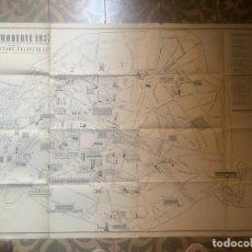 Mapas contemporáneos: PLANO DE MONUMENTOS PARÍS 1937. Lote 277167543