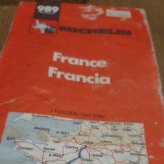 Mapas contemporáneos: MICHELIN PLANO 989 FRANCIA. Lote 278266393