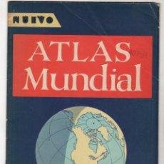 Mapas contemporáneos: NUEVO ATLAS MUNDIAL. CON INDICE DE PAISES DEL MUNDO. EDITORS PRESS SERVICE, 1960. Lote 278331133