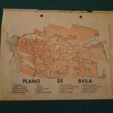 Cartes géographiques contemporaines: RARO MAPA PLANO DE AVILA AÑOS 50'S. Lote 278361423