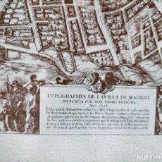 Mapas contemporáneos: GRAN MAPA PLANO DE MADRID TOPOGRAFÍA VILLA DE MADRID DE PEDRO TEXEIRA, 1656.REIMPRESION FAXSIMIL. Lote 278396598