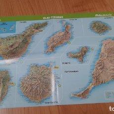 Mapas contemporáneos: MAPA -- ISLAS CANARIAS -- CAÑADAS DEL TEIDE, TIMANFAYA, GARAJONAY, CALDERA DE TABURIENTE -- GEO. Lote 278416778