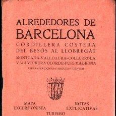Mapas contemporáneos: ALREDEDORES DE BARCELONA (ALPINA, S.F.) POSIBLE PRIMERA EDICIÓN. Lote 278514508