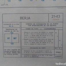 Mapas contemporáneos: BERJA (ALMERÍA) MAPA MILITAR - E. 1:50.000 - 21-43 (1.043) - AÑO 1968. Lote 278577558