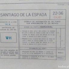 Mapas contemporáneos: SANTIAGO DE LA ESPADA (JAÉN) MAPA MILITAR - E. 1:50.000 - 22-36 (908) - AÑO 1972. Lote 278578073