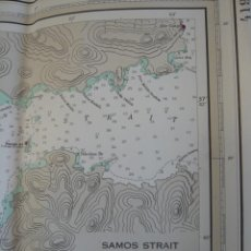 Mapas contemporáneos: 137 CM - ESPECTACULAR CARTA NÁUTICA ESTRECHO DE SAMOS A NISOS KALOLIMNOS (TURQUÍA) - SELLO MARINES. Lote 278629808