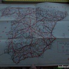 Mapas contemporáneos: ANTIGUO MAPA DE CARRETERAS DE ESPAÑA, EJEMPLAR DE SUPLEMENTO EN LOS DIETARIOS DE 1960. Lote 279335818
