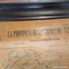 Mapas contemporáneos: MAPA LA PROVINCIA DE LOGROÑO CON SUS 100 HIJOS MAS CELEBRES JUAN CRUZ BUSTO 1884. Lote 279435313