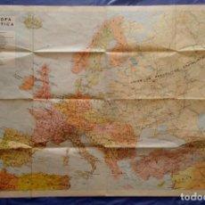 Mapas contemporáneos: MAPA ESCUELA COLEGIO GRAN TAMAÑO. EUROPA POLÍTICA. TRANSPLÁSTIC CARTOGRAFÍA AGUILAR, MADRID 1971 SD. Lote 279579108
