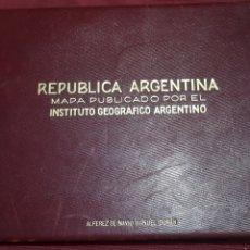 Mapas contemporáneos: REPUBLICA ARGENTINA MAPA PUBLICADO POR EL INSTITUTO GEOGRAFICO ARGENTINO CONSTRUIDO POR EL INGENIERO. Lote 281769038