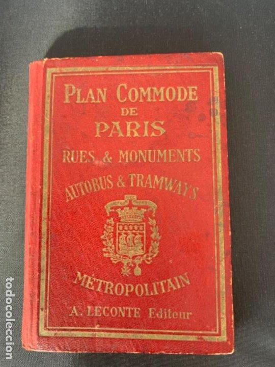 PARIS PLANO AÑOS 30 GUIA CALLES A.LECONTE EDITEUR (Coleccionismo - Mapas - Mapas actuales (desde siglo XIX))