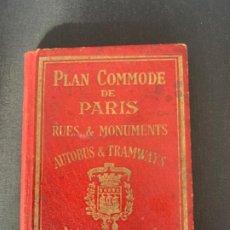 Mapas contemporáneos: PARIS PLANO AÑOS 30 GUIA CALLES A.LECONTE EDITEUR. Lote 285749898