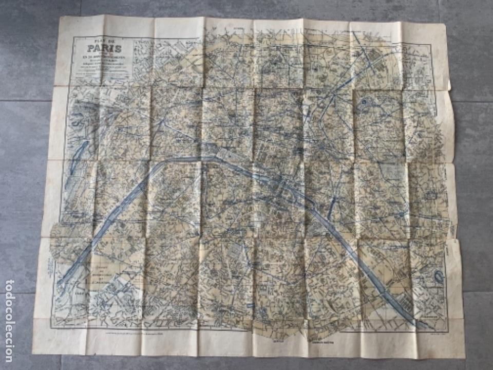 Mapas contemporáneos: PARIS PLANO AÑOS 30 GUIA CALLES A.LECONTE EDITEUR - Foto 6 - 285749898