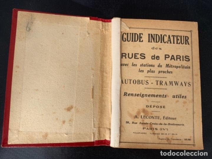 Mapas contemporáneos: PARIS PLANO AÑOS 30 GUIA CALLES A.LECONTE EDITEUR - Foto 7 - 285749898