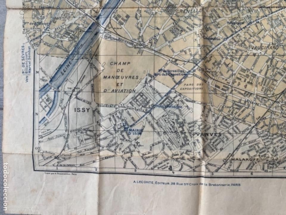 Mapas contemporáneos: PARIS PLANO AÑOS 30 GUIA CALLES A.LECONTE EDITEUR - Foto 9 - 285749898