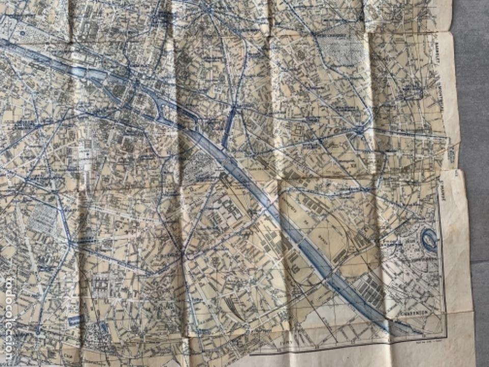 Mapas contemporáneos: PARIS PLANO AÑOS 30 GUIA CALLES A.LECONTE EDITEUR - Foto 10 - 285749898