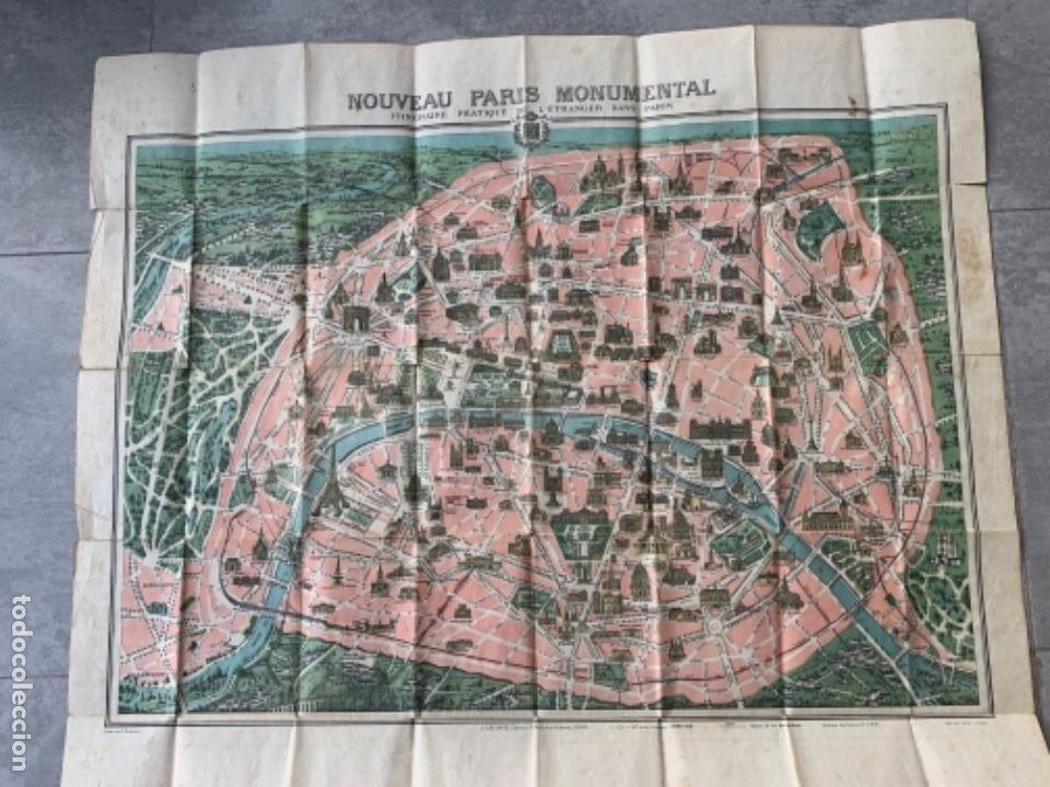 Mapas contemporáneos: PARIS PLANO AÑOS 30 GUIA CALLES A.LECONTE EDITEUR - Foto 11 - 285749898