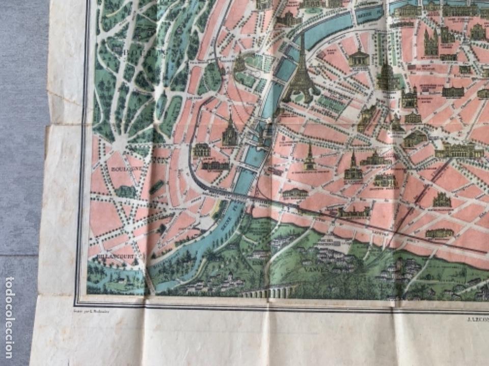 Mapas contemporáneos: PARIS PLANO AÑOS 30 GUIA CALLES A.LECONTE EDITEUR - Foto 13 - 285749898